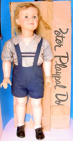 1960s IDEAL PETER PLAYPAL BLONDE DOLL BOXED w OUTFIT! #1570-1 BE 35-98 PATTI #Ideal