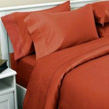 Burnt orange sheets I have been searching for....