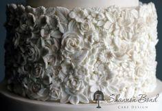 Bas Relief Country Wedding Cake by Shannon Bond Cake Design - http://cakesdecor.com/cakes/210654-bas-relief-country-wedding-cake