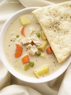 Chicken Pot Pie Soup by Baking with Blondie