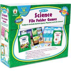 Carson-Dellosa Publishing science File Folder Game, Grades K-1, Multicolor
