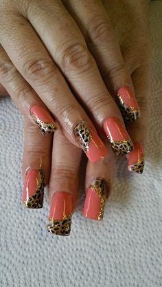 Peach Cheetah by janetquiroz - Nail Art Gallery nailartgallery.nailsmag.com by Nails Magazine www.nailsmag.com #nailart