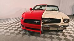"""side-by-side"" 1965/2015 Mustang Front View"