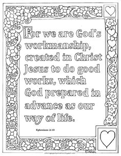 Coloring Pages for Kids by Mr. Adron: Ephesians Print and Color Page Bible Verse Coloring Page, Blank Coloring Pages, Free Printable Coloring Pages, Coloring Pages For Kids, Coloring Sheets, Coloring Stuff, Sunday School Classroom, Preschool Classroom, Classroom Ideas