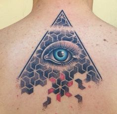 Eye, Pyramid & Dotwork