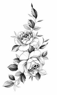 Family Tattoo Designs, Tattoo Designs And Meanings, Tattoos With Meaning, Floral Tattoo Design, Flower Tattoo Designs, Flower Tattoos, Vintage Blume Tattoo, Vintage Flower Tattoo, Tiny Bird Tattoos