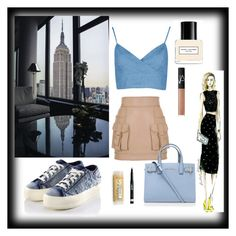 """A day in the city"" by glittergirl1019 ❤ liked on Polyvore featuring Balmain, Kurt Geiger, NARS Cosmetics, Marc Jacobs, Rimmel, women's clothing, women, female, woman and misses"