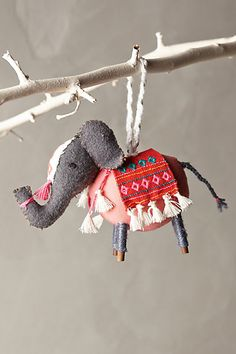 Stitched Nomad Ornament - anthropologie.com ::: a $24 ornament is kind of obscene but OMG I love elephants SO MUCH.