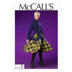 McCalls Sewing Pattern Misses' Coat 14 - 22 - Jackets & Coats - Womanswear - Sewing Patterns - Patterns Coat Pattern Sewing, Sewing Patterns For Kids, Mccalls Sewing Patterns, Coat Patterns, Doll Clothes Patterns, Clothing Patterns, Diy Clothing, Sewing Ideas, Sewing Crafts