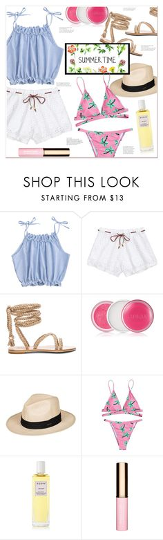 """""""SUMMER TIME"""" by mycherryblossom ❤ liked on Polyvore featuring Clinique, Roxy, Rodin and Clarins"""