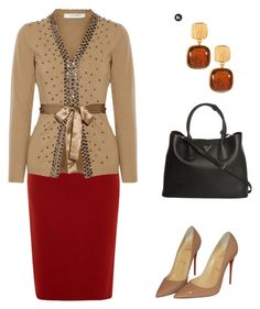 """Untitled #31"" by arleth-dantas on Polyvore featuring Lanvin, Christian Louboutin, Valentino and Prada"