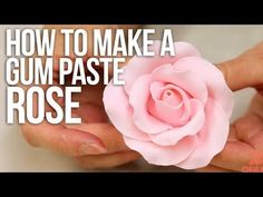 How to make a large rose from gum paste