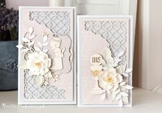 Communion Sets, Tim Holtz, Cute Cards, Christening, Mini Albums, Greeting Cards, Scrapbooking, Paper Crafts, Chipboard