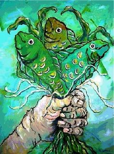 Fish Bouquet Print by beachcomberscove on Etsy, $15.00