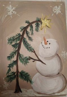 Snowman Image painted on canvas . - Snowman Image painted on canvas … Snowman Image painted on canvas … Christmas Rock, Christmas Projects, Holiday Crafts, Xmas, Christmas Games, Image Painting, Diy Painting, Painting Pictures, Snowman Images