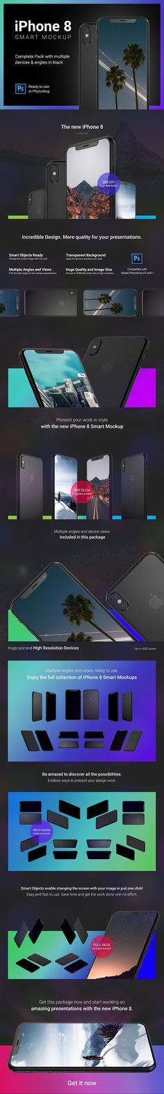 iPhone 8 Mockup Full Pack Mock-ups by caiocall on @creativemarket