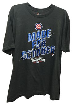 The Cubs are in the playoffs. Did you get your postseason shirt?