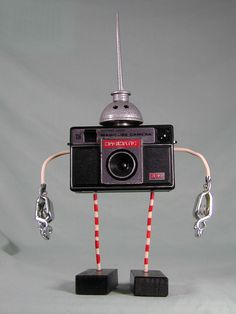 MAGIMATIC Found Object Robot Sculpture Assemblage  Sally Colby