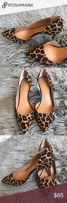 J crew calf leather animal print pumps! Like new, worn once only! J. Crew Shoes Heels