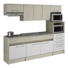 Cozinha Compacta Decibal Lívia com 8 Portas e 4 Gavetas CO 770 found on Polyvore featuring kitchen
