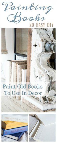 PAINTING BOOKS DIY - StoneGable