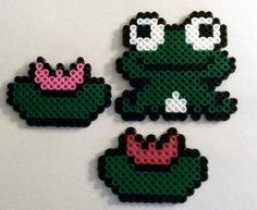 Perler Bead Lily Pond by SkellieBeads