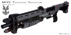 The Halo Reach Shotgun in 1:1 scale made entirely out of Legos.