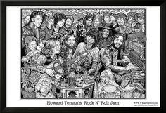 Rock N' Roll Jam Pôsters por Howard Teman na AllPosters.pt