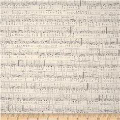 Tim Holtz Eclectic Elements Symphony Neutral Fabric