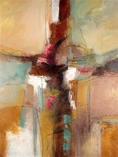 *abstract painting, art* - 'Fragments of Thought' (2011) by Filomena Booth