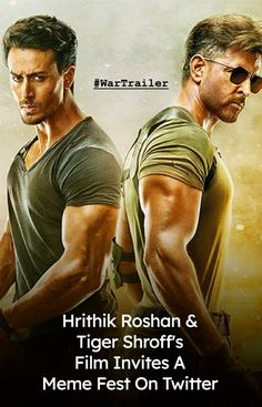 The makers of the most anticipated action film of the year, War starring Hrithik Roshan, Tiger Shroff and Vaani Kapoor released its first trailer yesterday. Let me begin with saying, Hrithik looks bomb AF! His ripped body and washboard abswill make you fall for him all over again. Download Free Movies Online, Free Movie Downloads, New Indian Movies, Tiger Shroff Body, Prabhas Actor, Ripped Body, Galaxy Pictures, Action Film, Iconic Movies