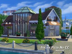 I invite you to visit the Italian restaurant.  Found in TSR Category 'Sims 4 Community Lots'