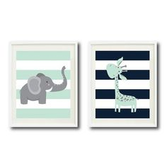 Image result for navy and mint nursery