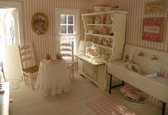 shabby chic dollhouse miniatures