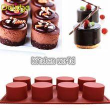 1 pc 8 Buracos Forma Redonda Molde de Silicone DIY Molde de Chocolate Cupcake Decoração Molde Geléia Gelo Molde de Cozimento Mini Bolo Do Queque moldes(China (Mainland))