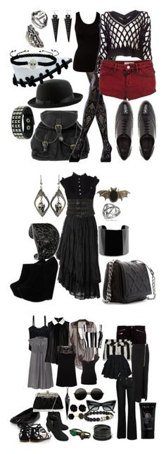 """""""summer goth ideas"""" by izzysaid ❤ liked on Polyvore featuring Emilio Cavallini, VILA, Alexander Wang, Topshop, CO, ASOS, King Baby Studio, Pieces, Juicy Couture and black"""