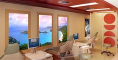 Faux Windows Aid Relaxtion and Brighten Rooms Without Natural Light