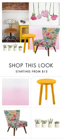 """""""Flowers"""" by pamela-802 ❤ liked on Polyvore featuring interior, interiors, interior design, home, home decor, interior decorating, Designers Guild, Tina Frey Designs, Allstate Floral and Oliver Gal Artist Co."""