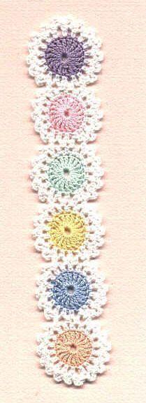 Crocheted Yo-Yo Bookmark FREE Pattern - Wouldn't this make a cute headband?