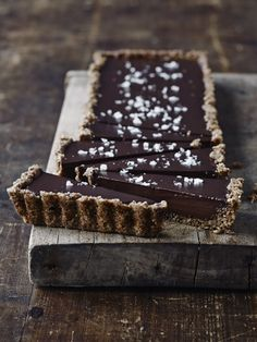 salted chocolate tart