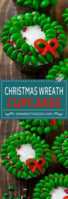 Christmas Wreath Cupcakes are easy to make yet so elegant!