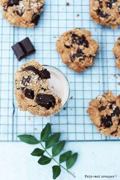 Cookies au potiron vegan et sans gluten - Fais moi croquer ! Psyllium, Sans Gluten Vegan, Cookies Et Biscuits, Desserts, Recipes, Food, Gluten Free Flour, Rice Flour, Cookie Dough