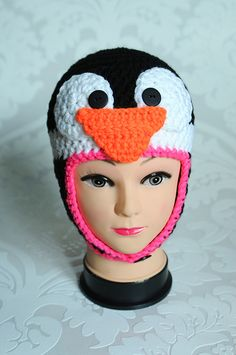 Pinguinmütze   Kindermütze   Mütze von netaberlin auf DaWanda.com