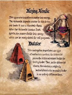 "Book of Shadows:  ""Blazing Alembic."""