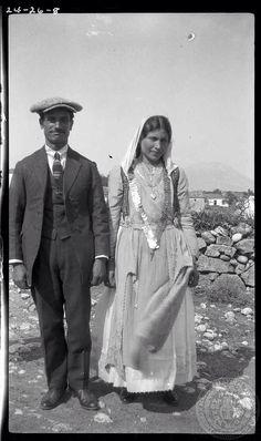 Leuctra-Boeotia-1924.(Parapoungia). D.B. in wedding-The bride.  Dorothy Burr Thompson