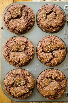 Try something on the healthier side for the holidays with these whole wheat gingerbread muffins made with buttermilk, whole wheat flour and aromatic spices. Makes more than 10 muffins Zucchini Muffins, Muffins Blueberry, Buttermilk Muffins, Healthy Muffins, Recipes With Buttermilk, Baking Muffins, Muffin Recipes, Baking Recipes, Breakfast Recipes