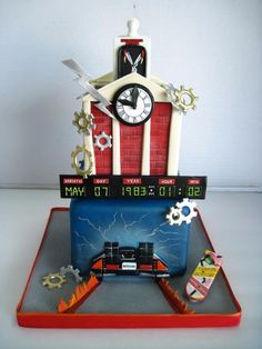 Back to the Future cake, can anyone say my birthday?