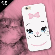 Do you love kittens?  This kitten face cell phone case is on sale now for only $15! #kittens #ilovecats