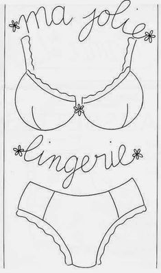 sewing idea for embroidery ♥ Applique Templates, Applique Patterns, Sewing Hacks, Sewing Projects, Machine Embroidery, Needlework, Embroidery Designs, Cross Stitch, Lingerie