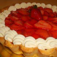 Tarta de frutilla con gelatina